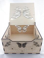 Деревянная шкатулка коробка для прикрас Дерев'яна