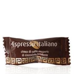 Coffee grain in chocolate in individual packing