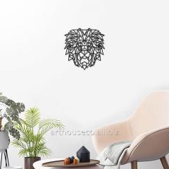 Голова льва Геометрическая голова Лев на стене