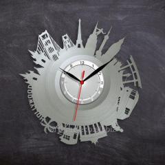 Большие города на часах Часы в цвете серебра Часы