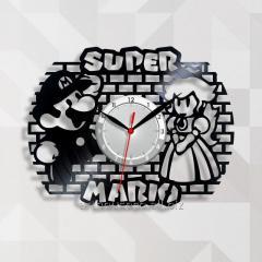 Видео игра Супер Марио Декор детской спальни Часы