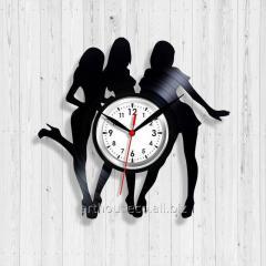Часы с виниловой пластинки Стрептиз Танцующие