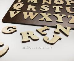 Английская азбука Коричневая развивающая доска