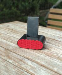 Черно-красный держатель для смартфона Динамик из