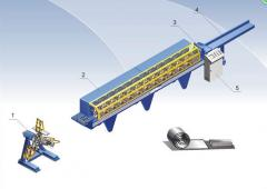 The line for production of the reinforcing profile