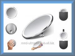 Зеркало сенсорное круглое 10 см на аккумуляторе