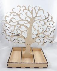 Держатель подставка для украшений сережек дерево