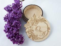 Деревянная шкатулка коробка для обручальных колец