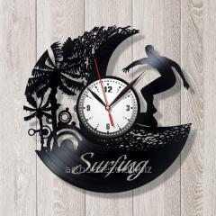 Спорт серфинг Серфинг Часы с винила Пальмы Лови