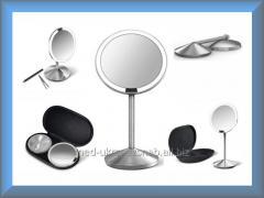 Зеркало сенсорное круглое 12 см на аккумуляторе