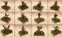 Zodiac signs, figurines bronze