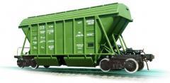 Bunker cars (hopper cars) for transportation of