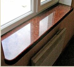 Window sill from granite, marble