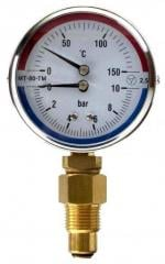 Thermomanometers (manometers with an additional