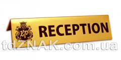 Купить Таблички металлические на стол, резерв, не курить, место для курения, ресепшн