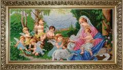 МІА. Схема для вишивки бісером Мадонна і ангели