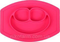 Детская силиконовая тарелка-коврик на присоске