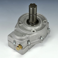 The drive of the gear pump from power take-off