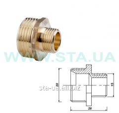 Nipples transitional brass 15-20th GOST 8958-75