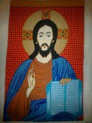 Иконы вышитые крестом