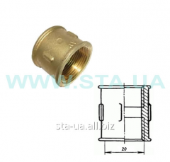 Couplings direct brass 20 mm of GOST 8955-75