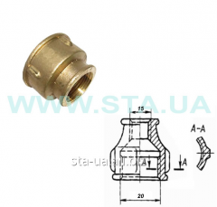 Coupling transitional brass 20/15mm GOST 8957-75