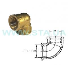 Square easy brass (knee) of 15 mm V-in GOST