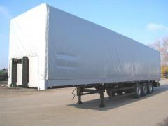 The Tentovany semi-trailer on spare parts