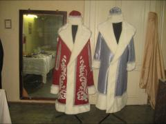 New Year's suits. Suits of Father Frost and