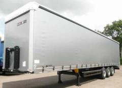 Curtain on the semi-trailer