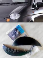 Реснички на фары Daewoo Matiz тип1