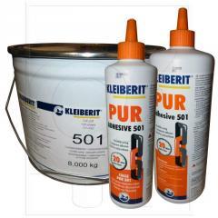 Купить Клей мебельный Kleiberit 501.0 реактивный 1к, влагостойкий и температуростойкий пур-клей d4, выдержка 20 мин, прессование 60 мин (20ºС), watt 91