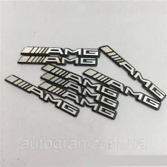 Эмблема на колонки, руль, двери Mercedes AMG