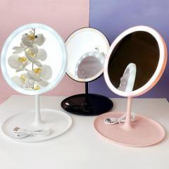 Косметическое круглое зеркало с подсветкой