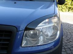 Реснички на фары Fiat Doblo тип2