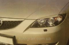Реснички на фары Mazda 3 HB