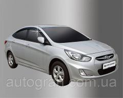 Дефлекторы окон ветровики Hyundai Accent 2010-