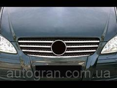 Накладки на решетку хром Mercedes Vito W639 2003-