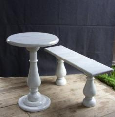 Benches marble