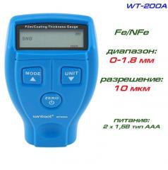 WT200A толщиномер краски, Fe/NFe, до 1800 мкм