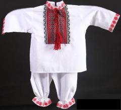 Вышитая одежда для новорожденных