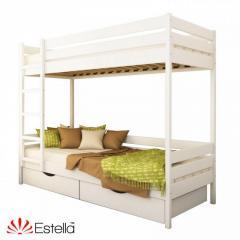 Кровать Эстелла Дует из бука Массив бука, Белый,