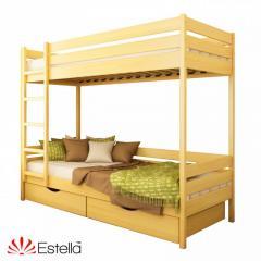 Кровать Эстелла Дует из бука Массив бука, Бук,