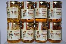 Мёд с орехами Украина купить опт оптом заказать
