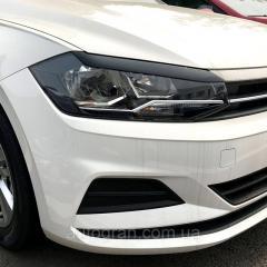 Реснички на фар Volkswagen Polo 2018