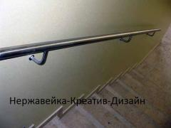 Wall hand-rail from stainless steel of all types