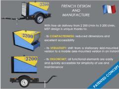 Stations compressor for concrete plants