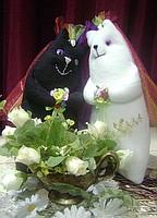 Игрушка хенд мейд Свадебные котята