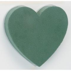 Floristic sponge of heart from floristic foam
