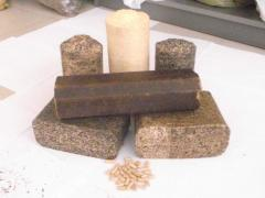 Nestro briquettes from wood sawdus